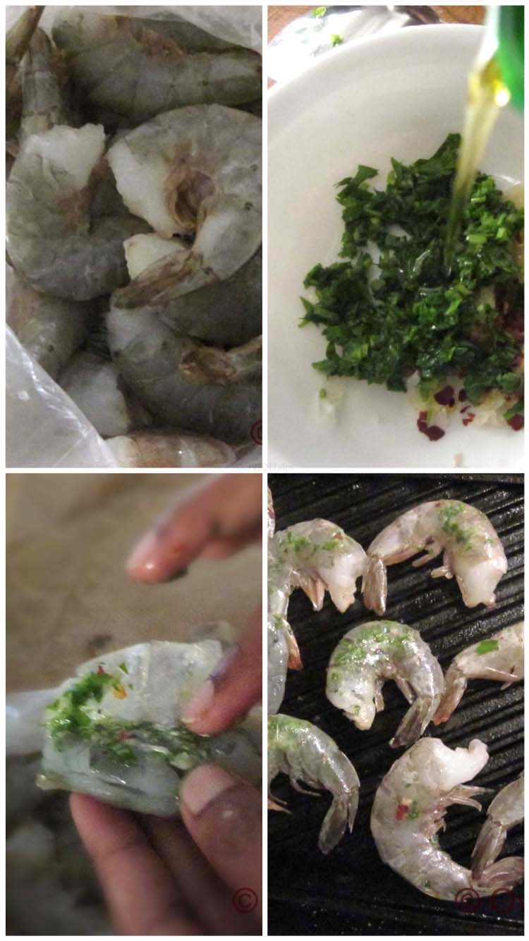 Steps to making cripsy grilled shrimp