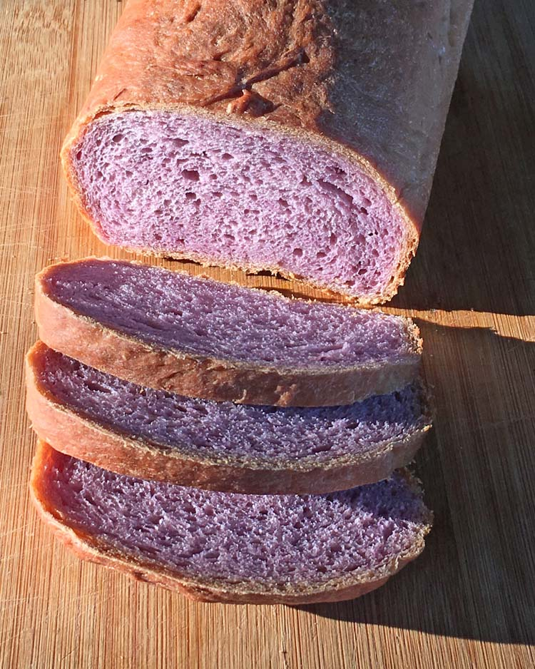Purple yam bread