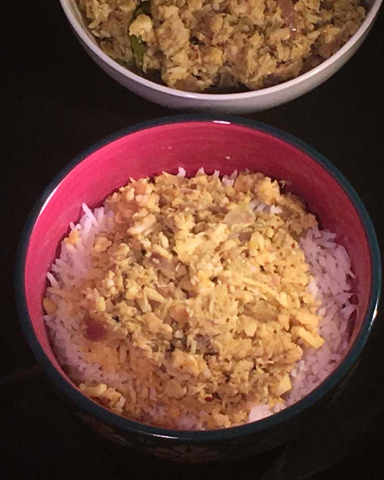 Meen Peera - Shredded fish with grated coconut and spices