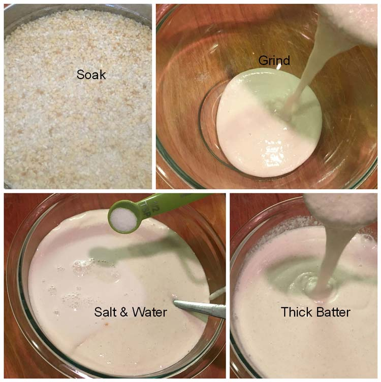 How to make the batter for plain Dosa