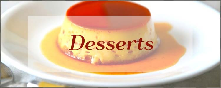 A collection of dessert Recipes from Oventales.com