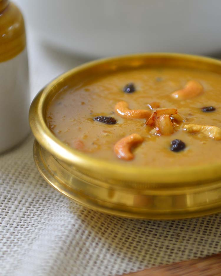 Parippu Payasam - A dessert made with mung beans , jaggery and coconut milk
