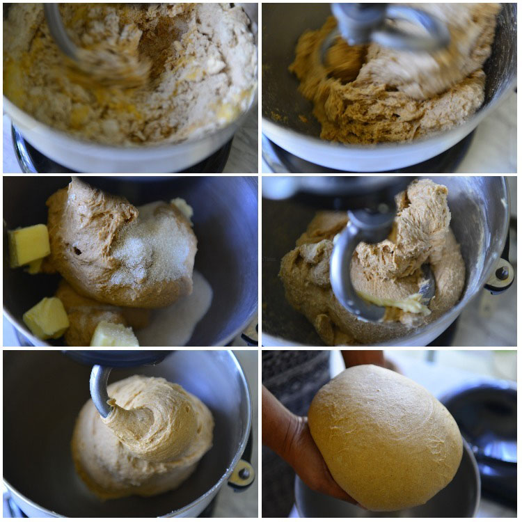 Hot Cross loaf Dough Stages