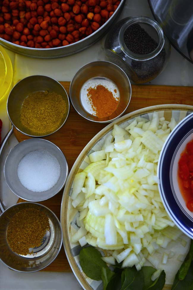 Instant Pot Kadala Curry Ingredients