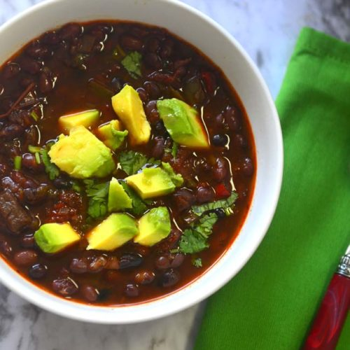 Easy Delicious vegan black bean chili for weeknight v