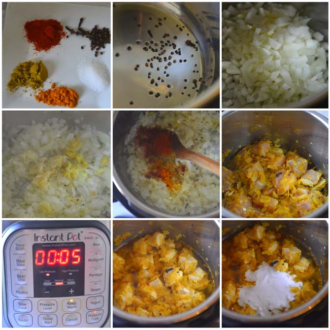 Making Easy Chicken Curry With Vegetables In Pressure Cooker