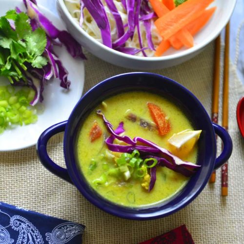 Coconut curry Soup - easy one pot meal that is versatile enough from carnivores to vegans !