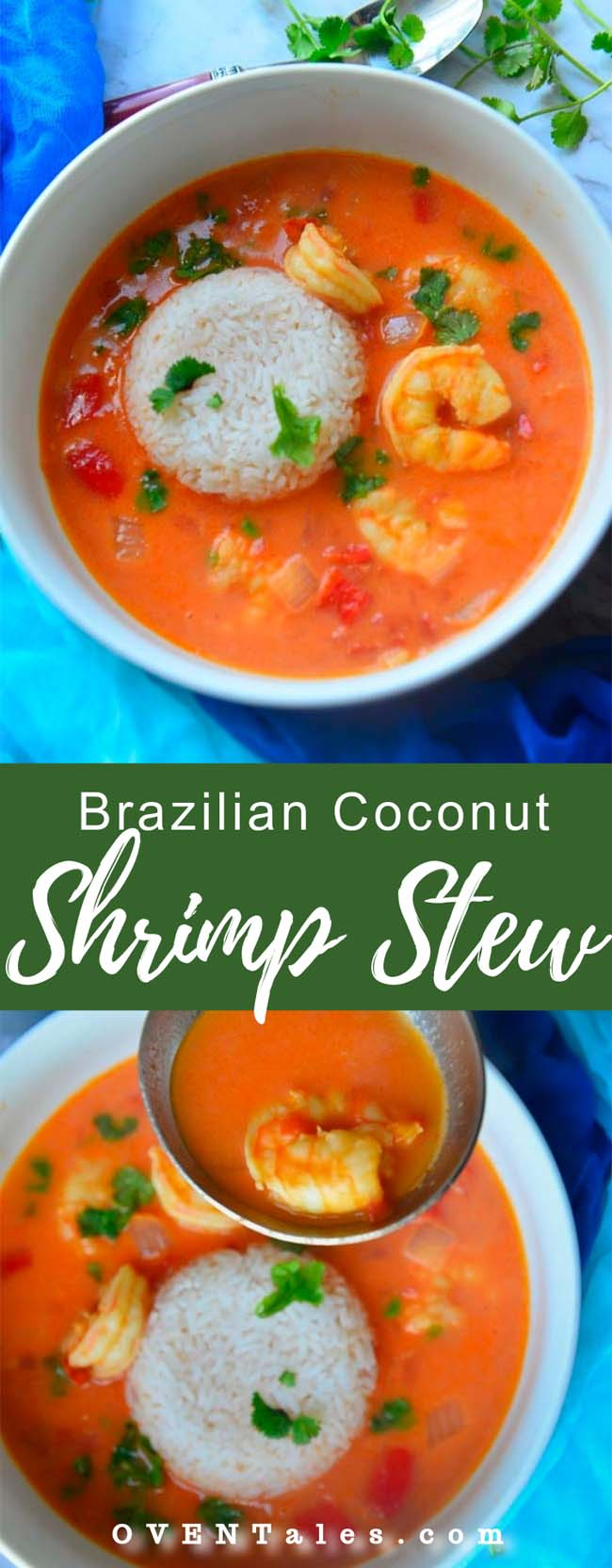 Moqueca de Camarones - The brazilian Style Coconut Shrimp Stew