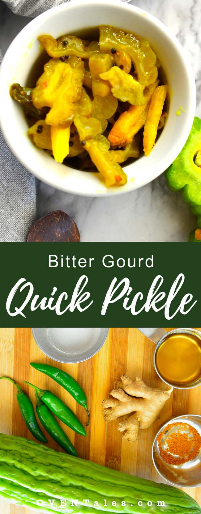 Quick pickled bitter gourd