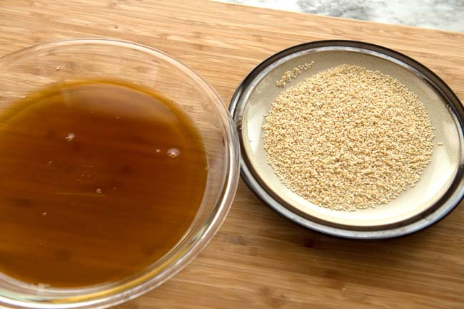 Molasses and sesame seeds